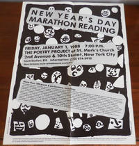 1988 New Year's Day Marathon Reading Poster / Flyer