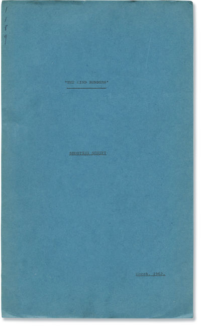 United Kingdom: Pinewood Studios / American International Pictures , 1962. Shooting script for the 1...