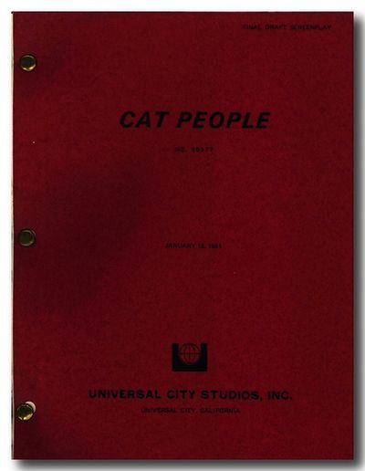 Universal City: Universal City Studios, Inc., 1981. ,168 leaves. Quarto. Mechanically reproduced typ...