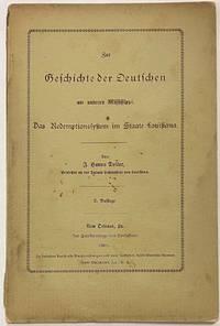 image of Zur Geschichte der deutschen am unteren Mississippi: das Redemptionssystem im Staate Louisiana