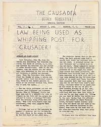 image of The Crusader, weekly newsletter. Vol. 3, No. 4 [error for no. 5], (August 7, 1961). Special edition