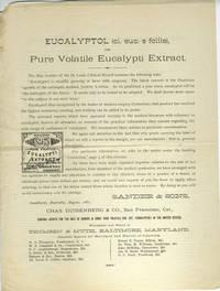Eucalyptol (ol. euc. e foliis), or Pure Volatile Eucalypti Extract.  Advertisement handbill