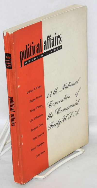 New York: New Century Publishers, 1948. pp. 773-947, slightly worn wraps. Complete issue devoted to ...