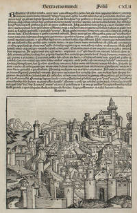 Ravenna, Italy in the Liber chronicarum- Nuremberg Chronicle, an individual page from the Chronicle, Plate No. CXLII