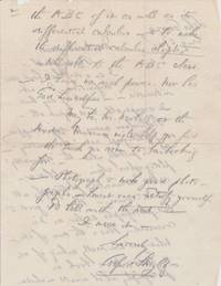 Two Autograph Letters Signed, 4to, Lake George, NY, July and August 1941