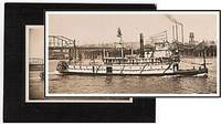 Early 20th Century Original Photograph of Steam Ship, Sarah Dixon which operated on the Columbia River, Oregon c1900