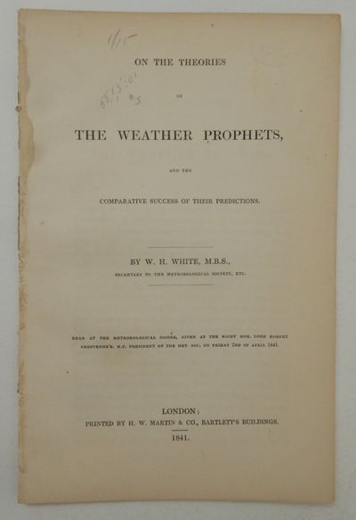 London: H. W. Martin & Co., Bartlett's Buildings, 1841. First Edition. Wraps. Good. First Edition. ,...