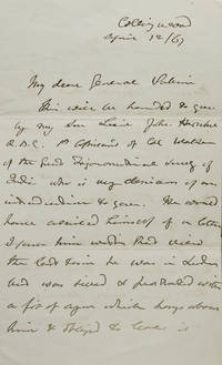 """Autograph Letter Signed (""""JFW Herschel""""), to General P-, introducing his son"""