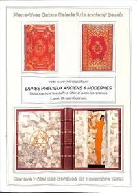 vente 27 novembre 1983 : dispersion  d'une partie de la bibliothèque Fred  Uhler, de...