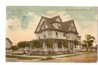 image of JERSEY SHORE PENNSYLVANIA SHOWING HOSPITAL VINTAGE POSTCARD
