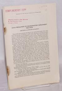 image of Local regulation of discriminatory employment practices