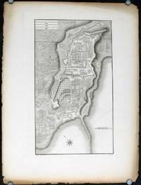 Plan of the City and the New Port of Tarragona.  Plate XLVII. (Plano de la Ciudad y del nuevo Puerto de Tarragona).