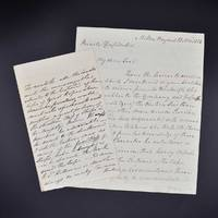 Autograph letter concerning the East India Company