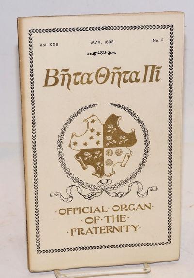 Cincinnati: the fraternity, 1895. Unpaginated preliminaries, 141-214p., ads, and a half-dozen insert...