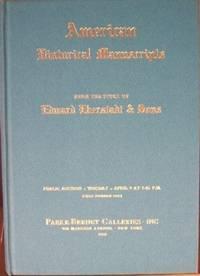 AMERICAN HISTORICAL MANUSCRIPTS