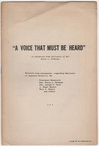 A Voice That Must Be Heard; (A Quotation from Secretary of War Henry L. Stimson). Extracts from...