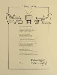 Management (Signed Broadside) by  William STAFFORD - Signed First Edition - 1976 - from Jeff Hirsch Books, ABAA and Biblio.co.uk