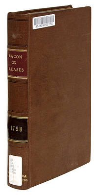 A Treatise on Leases and Terms for Years, Only ed, London, 1798