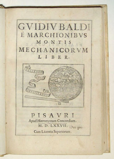 Pesaro: H. Concordia, 1577. Rare first edition of the author�s first work, generally regarded as the...