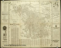 Map of Portland Oregon with a Highway Map of Western United States. Map title: Map of Portland Oregon (City of Roses).