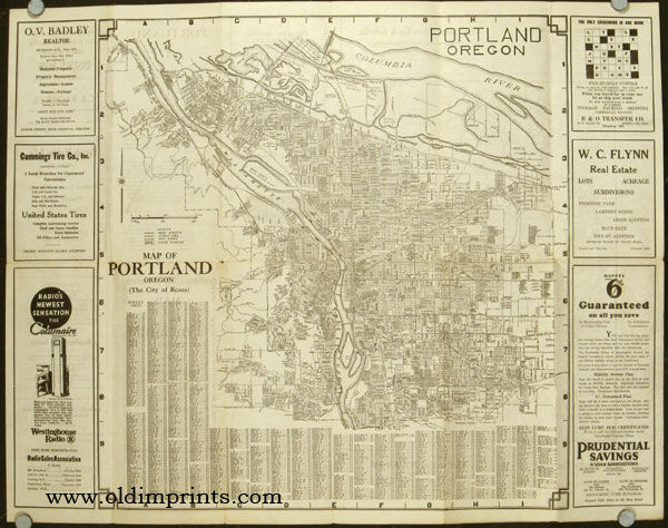Map of Portland Oregon with a Highway Map of Western United ...
