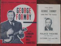 George Formby and His London Music Hall Varieties - (Program)  - with 2nd Program from the Palace Theatre, Hamilton Ontario Canada, October 3rd & 4th 1949 - (2 programs) - Cynthia & Gladys, Gus Brox & Myrna, Medlock & Marlowe, Alan Clive, The Humoresques