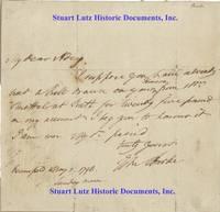 Parliamentarian Edmund Burke Writes To His Banker