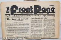 image of The Front Page: the news & entertainment paper of N.C.'s gay community; vol. 1 [12 issue broken run]
