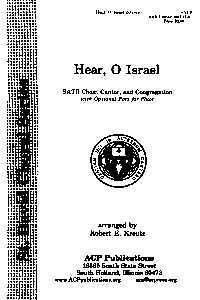 Hear, O Israel (SATB)