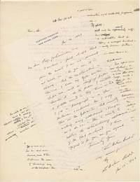 Autograph Letter Signed / Autograph Manuscript Signed