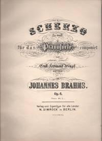 image of Scherzo Es moll fur das Pianoforte compunirt und seinem Freunde Ernst Ferdinand Wenzel zugeeignet Op. 4 (Preis Mk.3)