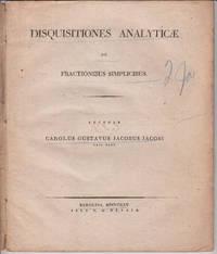 Disquisitiones Analyticae de Fractionibus Simplicibus