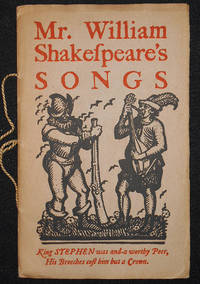image of Mr. William Shakespeare's Songs