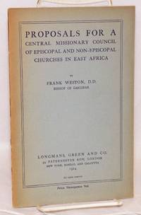 image of Proposals for a central missionary council of episcopal and non-episcopal churches in East Africa