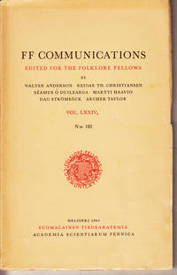 FF Communications edited for the folklore fellows Vol. LXXIV (2) N:182