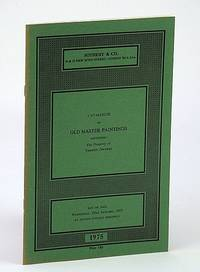 Sotheby & Co. Catalogue of Old Master Paintings, 22 January 1975