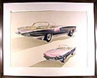 1959 Conceptual Drawing of a Sports Car