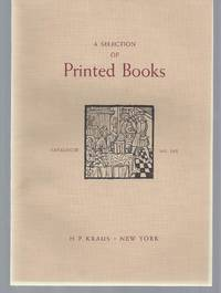 image of Catalogue No. 161: A Selection of Printed Books