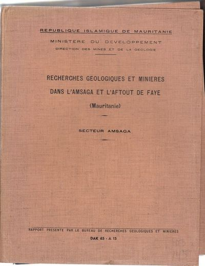 Recherches geologiques et minieres dans l 39 amsaga et l - Bureau de recherches geologiques et minieres ...