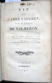 Vie de l'Abbé Fauchet par M. l'Abbé de Valmeron