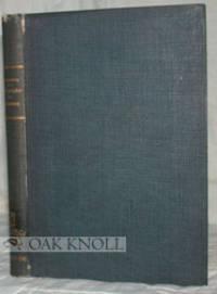 Berlin: Caryl Heymanns, 1900. cloth, gilt lettering on spine. 8vo. cloth, gilt lettering on spine. x...