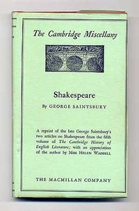 Shakespeare by  George SAINTSBURY - First Edition - 1934 - from Between the Covers- Rare Books, Inc. ABAA and Biblio.co.uk
