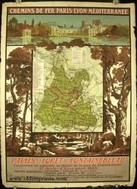 Chemins de Fer Paris-Lyon-Mediterranee. Palais et Foret de Fontainebleau. Excursions en autocars au depart de la gare de Fontainbleau. 1er Avril - 2 Novembre 1925
