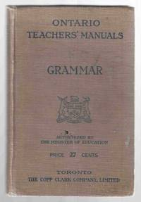 Ontario Teacher's Manuals Grammar