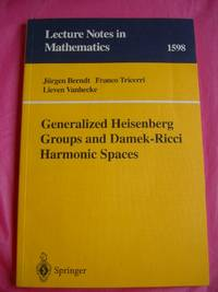 Generalized Heisenberg Groups and Damek-Ricci Harmonic Spaces