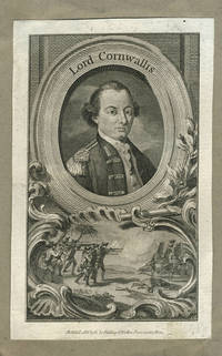 Lord Cornwallis.  Engraved portrait with battle vignette