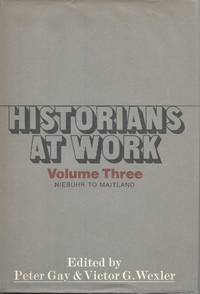 """Historians at Work by  Peter Gay - """"First Edition, First Printing"""" - 1975 - from Charing Cross Road Booksellers (SKU: 20050773)"""