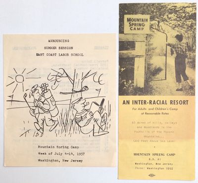 Washington, NJ: the Camp, 1957. Four panel brochure for the Socialist Workers Party's East Coast Lab...