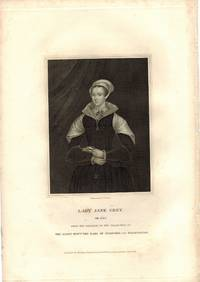 Engraved Portrait of Lady Jane Grey, Three Quarter Length, holding book, by T.A. Dean. by LADY JANE GREY [1537-1554] Proclaimed Queen - from R.G. Watkins Books and Prints (SKU: RGW13669)