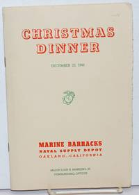 image of Thanksgiving Day, Thursday, November 25, 1943  [with]  Thanksgiving Day, Thursday, November 30, 1944  [with]  Christmas Dinner, December 22, 1944  [3 unduplicated menus (plus two dupes of the '43) as a tiny lot]